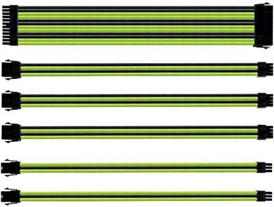 Cooler Master Yeşil/Siyah Sleeved Kablo Seti