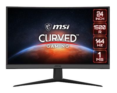 "MSI 23.6"" Optix G24C6 1ms 144hz HDMI,DisplayPort FreeSync Curved Gaming Monitör"