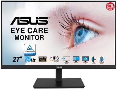 """Asus 27"""" VA27DQSB 5ms 75hz HDMI,DisplayPort Adaptive Sync Monitör"""