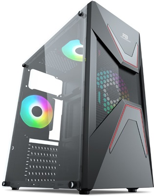 PowerBoost VK-G3621C Rainbow USB 3.0 ATX Mid Tower Kasa