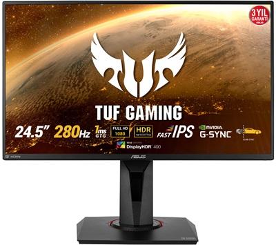 "En ucuz Asus 24.5"" TUF Gaming VG259QM 1ms 280hz HDMI,DisplayPort G-Sync Gaming Monitör Fiyatı"