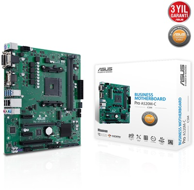 Asus Pro A520M-C/CSM 4600mhz(OC) M.2 AM4 mATX Anakart