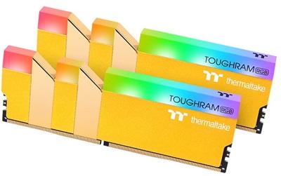 Thermaltake 16GB(2x8) Toughram RGB Metallic Gold 3600mhz CL18 DDR4  Ram (RG26D408GX2-3600C18A)