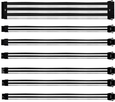 Cooler Master Siyah/Beyaz Güç Kaynağı Sleeved Kablo Seti
