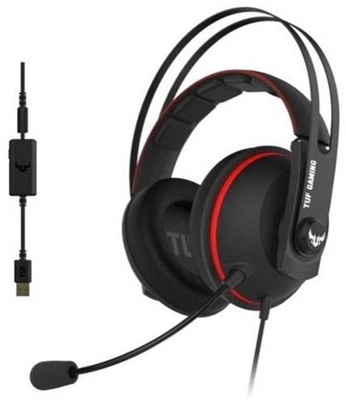 En ucuz Asus TUF Gaming H7 7.1 Surround Kırmızı Gaming Kulaklık  Fiyatı