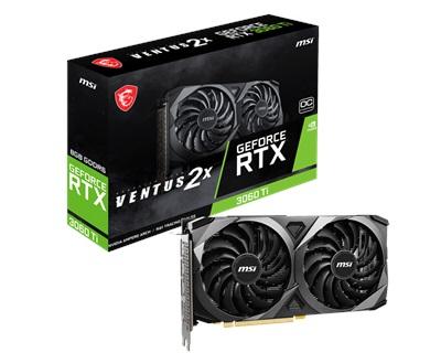 MSI GeForce RTX 3060 Ti Ventus 2X 8G OCV1 LHR 8GB GDDR6 256 Bit Ekran  Kartı