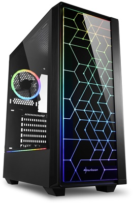 En ucuz Sharkoon LIT 100 Tempered Glass RGB USB 3.0 ATX Mid Tower Kasa  Fiyatı