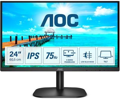 """Aoc 23.8"""" 24B2XDA 4ms 75hz HDMI,VGA,DVI Monitör"""
