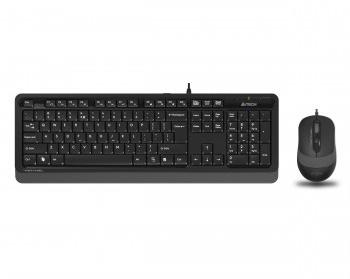 En ucuz A4 Tech F1010 Gri Türkçe Q  USB Klavye + Mouse Set Fiyatı
