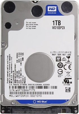 WD 1TB Blue 128MB 5400rpm (WD10SPZX) Notebook Disk