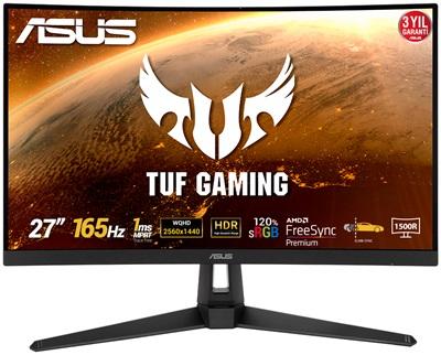 "Asus 27"" TUF Gaming VG27WQ1B 1ms 165hz HDMI,DisplayPort FreeSync Curved 2K Gaming Monitör"