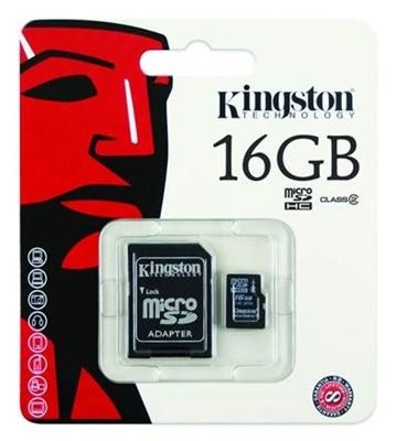 Kingston 16GB MicroSDHC 4MB/s Class 4 Hafıza Kartı (SDC4/16GB)