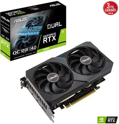 Asus GeForce RTX 3060 Dual V2 O12G 12GB GDDR6 192 Bit Ekran Kartı