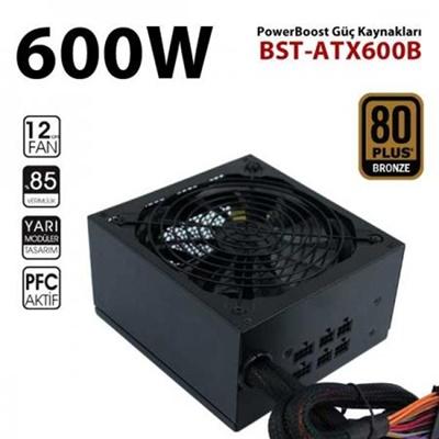 PowerBoost 600W Stallion Serisi 80+ Bronze Yarı Modüler Güç Kaynağı