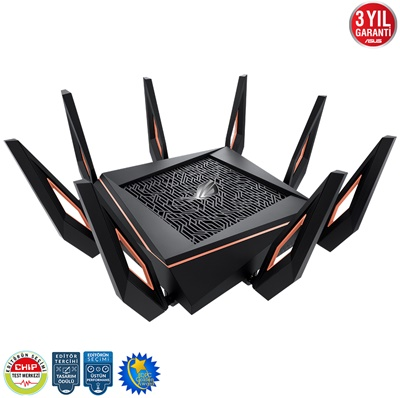 En ucuz Asus ROG Rapture GT-AX11000 4804Mbps 4 Port 1.8 GHz İşlemci/1GB Ram Router  Fiyatı