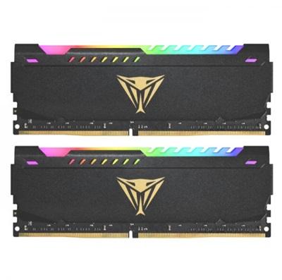 Patriot 16GB(2x8) Viper Steel RGB 3200mhz CL18 DDR4  Ram (PVSR416G320C8K)