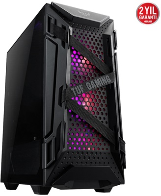 En ucuz Asus TUF Gaming GT301 Tempered Glass RGB USB 3.2 ATX Mid Tower Kasa  Fiyatı