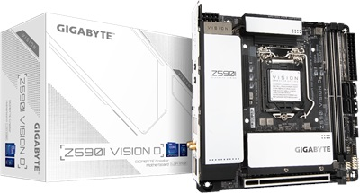 Gigabyte Z590I Vision D 4600mhz(OC) RGB M.2 Wi-Fi 1200p Mini-ITX Anakart