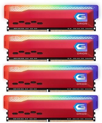 GeIL 64GB(4x16) Orion RGB 3600mhz CL18 DDR4  Ram (GAOSR416GB3600C18BSC16GBX4)