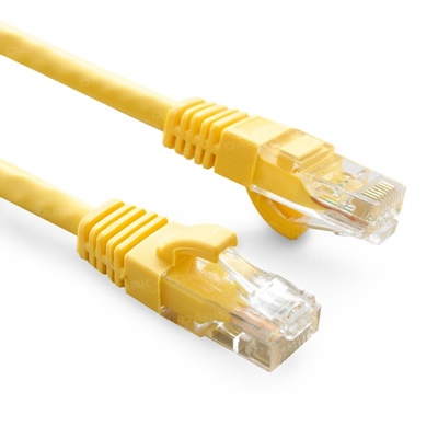 Dark 0,50m Cat6 CU AWG24/7 UTP Sarı Patch Network Kablosu