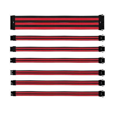 Cooler Master Kırmızı/Siyah Güç Kaynağı Sleeved Kablo Seti