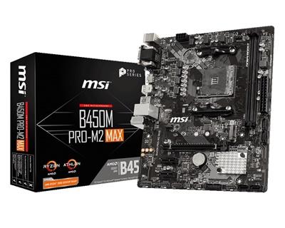 En ucuz MSI B450M PRO-M2 MAX 3466mhz(OC) M.2 AM4 mATX Anakart Fiyatı