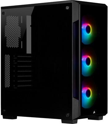 Corsair iCUE 220T Siyah RGB Tempered Glass USB 3.0 ATX Mid Tower Kasa