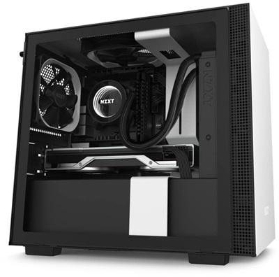 NZXT H210 Tempered Glass Siyah/Beyaz USB 3.1 Mini-ITX Mini Tower Kasa