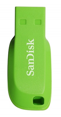 Sandisk 16GB Cruzer Blade Electric Green USB 2.0 SDCZ50C-016G-B35GE USB Bellek