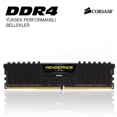 En ucuz Corsair 8GB Vengeance Lpx Siyah 3000mhz CL16 DDR4  Ram (CMK8GX4M1D3000C16) Fiyatı