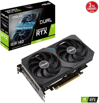 Asus GeForce RTX 3060 Dual V2 12G 12GB GDDR6 192 Bit Ekran Kartı