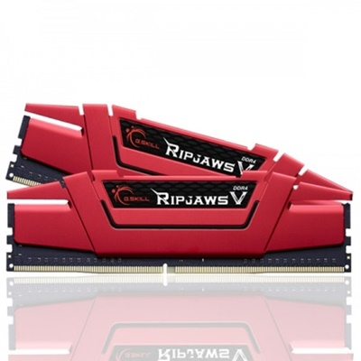 G.Skill 16GB RipjawsV Kırmızı 2400mhz CL15 DDR4  Ram (F4-2400C15S-16GVR)