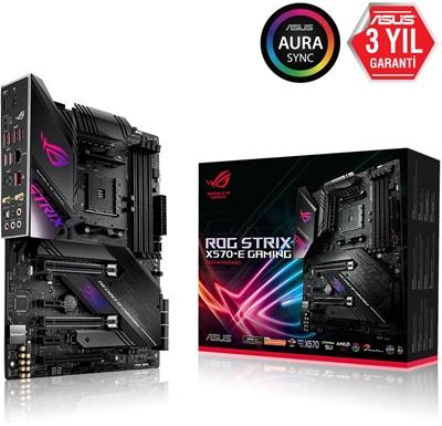 En ucuz Asus ROG Strix X570-E Gaming 4400mhz(OC) RGB M.2 Wi-Fi AM4 ATX Anakart Fiyatı