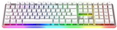 GameBooster G918 Fire Storm Beyaz RGB Blue Switch Mekanik Gaming Klavye