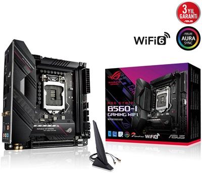 Asus Rog Strix B560-I Gaming 5333mhz(OC) RGB M.2 Wi-Fi 1200p Mini-ITX Anakart