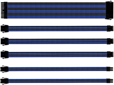 Cooler Master Mavi/Siyah Sleeved Kablo Seti