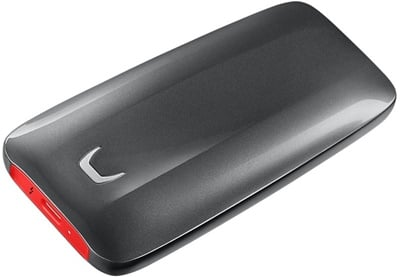 Samsung 500GB X5 Okuma 2800MB-Yazma 2300MB Thunderbolt 3 Taşınabilir SSD (MU-PB500B/WW)