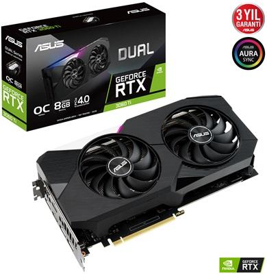 En ucuz Asus GeForce RTX3060Ti Dual O8G 8GB GDDR6 256 Bit Ekran Kartı Fiyatı