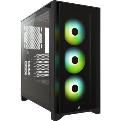 En ucuz Corsair iCUE 4000X Siyah Tempered Glass RGB USB 3.0 ATX Mid Tower Kasa  Fiyatı