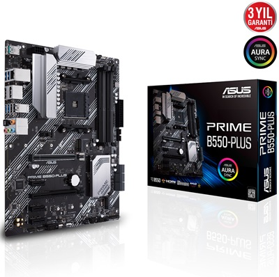 En ucuz Asus Prime B550-PLUS 4600mhz(OC) RGB M.2 AM4 ATX Anakart Fiyatı