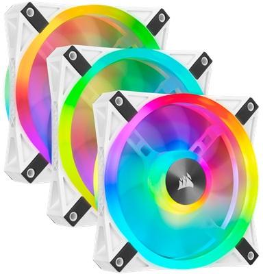 Corsair iCUE QL120 RGB Beyaz Fan 120 mm Fan(3'lü Set)