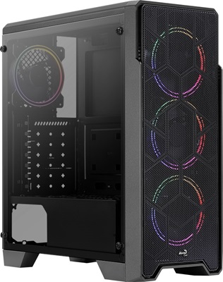 En ucuz Aerocool Ore Saturn 600W 80+ Tempered Glass RGB USB 3.0 ATX Mid Tower Kasa  Fiyatı