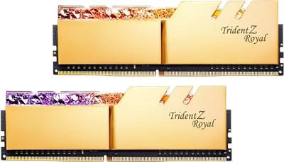 G.Skill 64GB(2x32) Trident Z Royal Gold 3200mhz CL16 DDR4  Ram (F4-3200C16D-64GTRG)