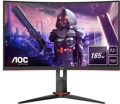 """Aoc 27"""" C27G2U 1ms 165hz HDMI,DisplayPort FreeSync Curved Gaming Monitör"""