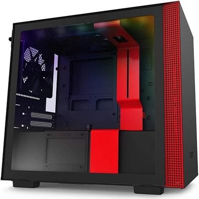 NZXT H210i Tempered Glass RGB Siyah/Kırmızı USB 3.1 Mini-ITX Mini Tower Kasa