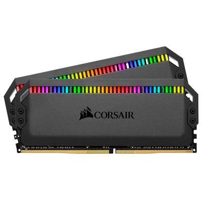 En ucuz Corsair 32GB  (2x16) Domintaor Platinum RGB Siyah 3200Mhz CL16 DDR4  Ram (CMT32GX4M2C3200C16) Fiyatı