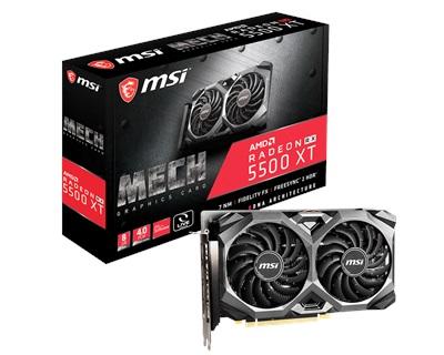 En ucuz MSI Radeon RX5500XT MECH 8G 8GB GDDR6 128 Bit Ekran Kartı Fiyatı