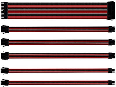 Cooler Master Kırmızı/Siyah Sleeved Kablo Seti