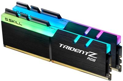 G.Skill 32GB(2x16) Trident Z RGB Siyah 3000MHz CL16 DDR4  Ram (F4-3000C16D-32GTZR)