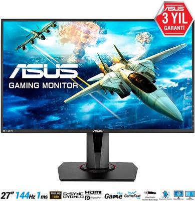 """En ucuz Asus 27"""" VG278Q 1ms 144hz HDMI,DPPort,DVI-D FreeSync (G-Sync Uyumlu) Gaming Monitör Fiyatı"""